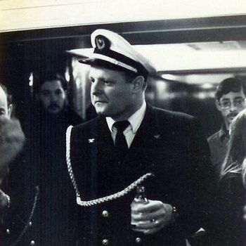 Captain Bill Robertson on Apllo ship